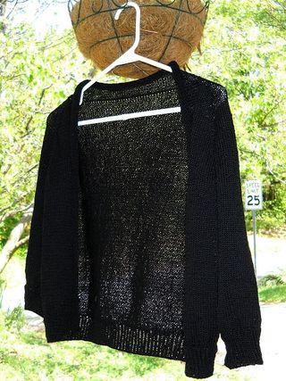 black featherweight cardigan knitbot hannah fettig