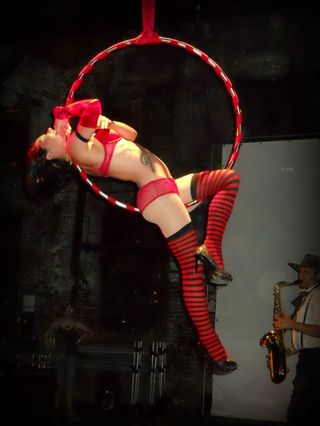 Sadie Hawkins aerial hoop Big Bang Ball Goat Farm Atlanta 2012