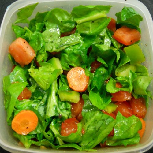 Spinach salad with homemade Italian dressing
