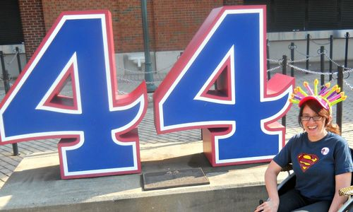 Hank Aaron 44 retired number Turner Field Atlanta Braves