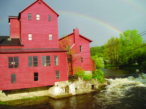 Vermont Studio Center rainbow river