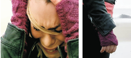 Rose Tyler fingerless mitts Christina Slattery