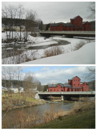 Vermont Studio Center Red Mill Gihon River view from Maverick